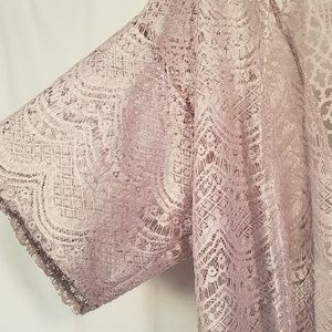 Charlotte Russe Tops - Flowy Lace Cardigan